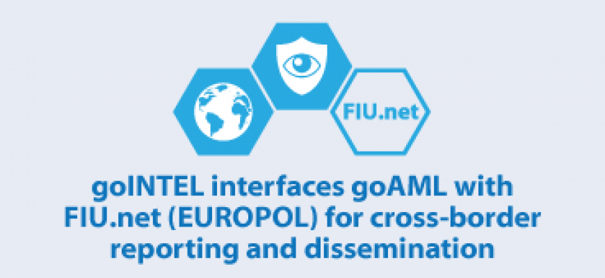 goINTEL interfaces goAML with FIU.net (EUROPOL) for cross-border reporting and dissemination