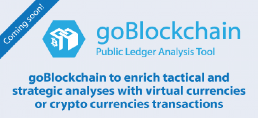 goBlockchain to enrich tactical and strategic analyses with virtual currencies or crypto currencies transactions