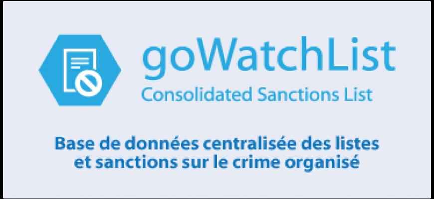 Base de données centralisée des listes  et sanctions sur le crime organisé
