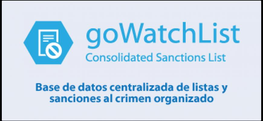 Base de datos centralizada de listas y  sanciones al crimen organizado